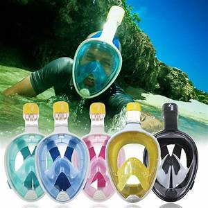 full face snorkeling mask with varying colors