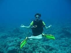 relaxing underwater